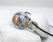 Hand Blown Glass Jewelry // Marble Bead // Hand Blown Glass // Glass Orb Pendant