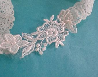 Ivory Wedding Garter, lace, bridal garter H121 bridal garter accessory, garter