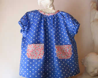 6 month Baby Girl Linen Liberty Dress