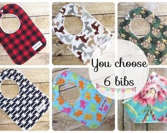 Baby Gift Set - Baby Bib Set - You Choose - Baby Shower Gift - Baby - Bib