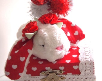 Love Bunny Jewelry Treasure Box Cute Handmade Plush Kawaii Sweet Love