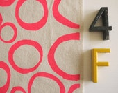 Loops - screen printed fabric - neon colours