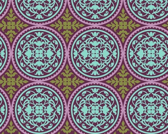 Joel Dewberry Fabric by the Yard - Aviary 2 - Scrollwork in Lilac - Quilter's Cotton