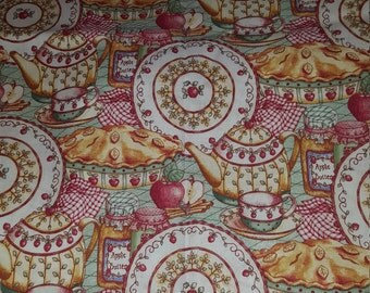 Apple Items Fabric ~ By the Yard