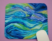 Buy 2 FREE SHIPPING Special!!   Mouse Pad, Fabric Mousepad    Abstract Ocean