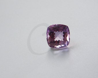 One Piece Square Cushion Cut Natural Amethyst Stone Cabochons - Untreated Sparking Loose Stone