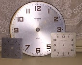 Lot of 3 Vintage Clock Faces