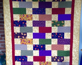 "Quilts for a Cause Color Block Quilt 55""X71"""