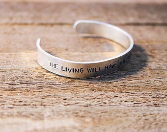 Cuff Bracelet - The living will have this world again- The Walking Dead - Abraham