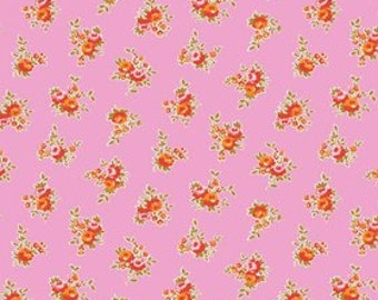 SALE ~ Milk Sugar & Flower by Elea Lutz ~ Pink Floral print ~ by the yard ~ Penny Rose Fabrics