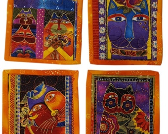 Laurel Burch Cats Quilted Coasters