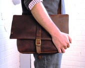 In Blue Handmade - leather messenger bag - unisex - Leather Crossbody Bag