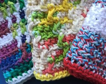 Dishcloth Extravaganza***  Set of 3 - 100% cotton dishcloths