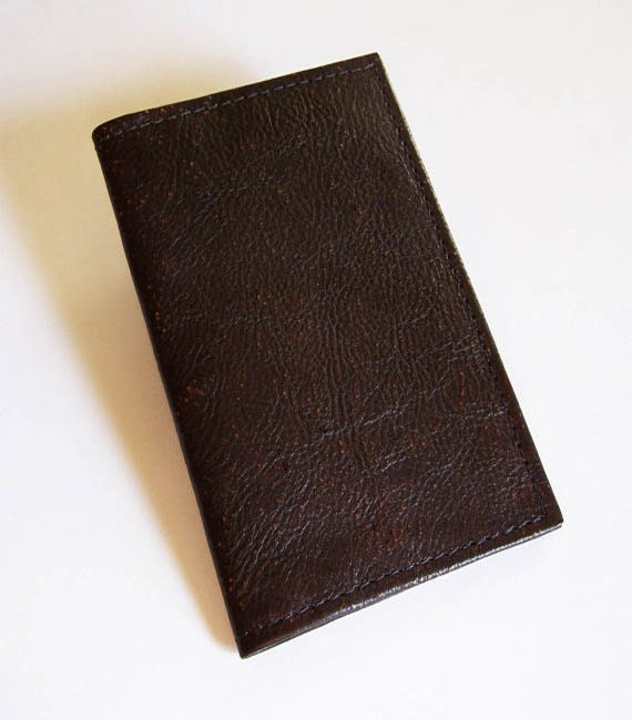 Calendar Planner Cover : Leather pocket planner cover with weekly calendar