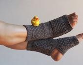 Yoga Socks - Hand Knit - Wool - Athletic Socks - Dance Socks - Pedicure Socks - Slipper Socks - Toeless Socks - Ankle Warmers - Fashion