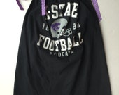 ready for game day.  this t-shirt dress is adorable.