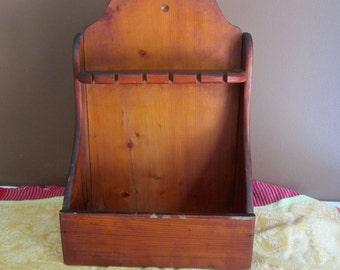 Vintage Wood Spoon Holder and Trinket Box - Sale