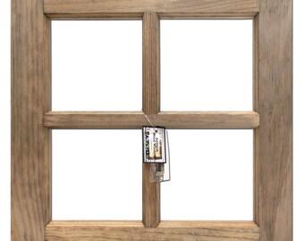 "Wood Window Frame -Weathered Wood 16""X16"""