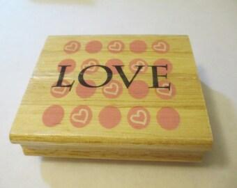 Love Wooden Stamp Craft Supplies