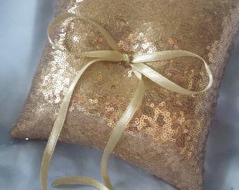 Gold Sequin Ring Bearer Pillow Wedding Ring Pillows