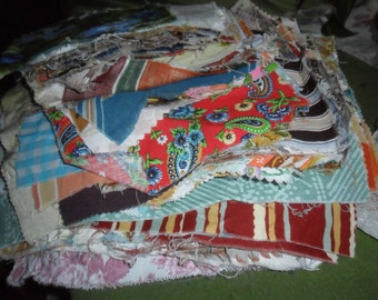 Over 7 POUNDS Vintage Fabric Squares -196+ Squares - Make MANY Quilts