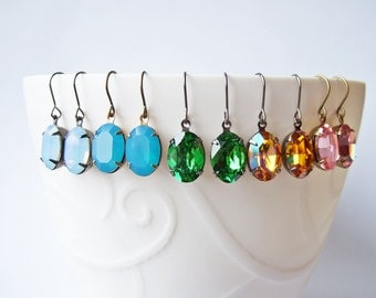 Grace Earrings - One pair of Swarovski Crystal Earrings - Pick your colour
