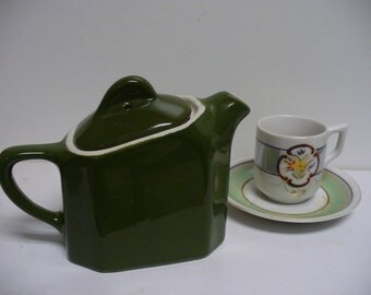 One Cup Individual  Restaurant Ware Hot Water Teapot