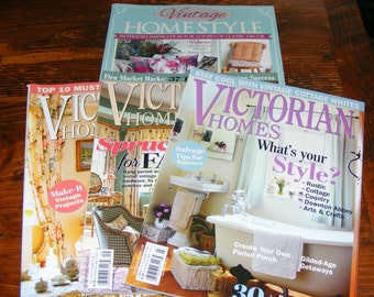 SALE Vintage Home Style British UK Victorian Homes Spring Summer and Fall 2015 Magazine Lot
