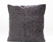 decorative pillow cover charcoal grey, accent cushion cover , gray throw pillow cover 16 inch