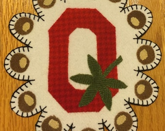 Ohio State Wool Penny Rug