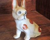 RESERVED Vintage French Bulldog miniature ceramic figurine - 2 inches tall - Mid century