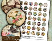 Simply Spring Digital Collage Sheet 1 Inch Circles Images for Bottle Caps, Cabochon, Bezel Settings, Decoupage, Resin Jewelry, Vintage Art