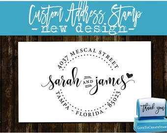 Custom  Address Stamp - Custom Calligraphy Stamp - Handwriting Script - Personalized SELF INKING Wedding Stationery Stamper - (1162S)