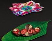 VALENTINE SALE 4 Raw heart shaped chocolates with strawberries and macadamia nuts