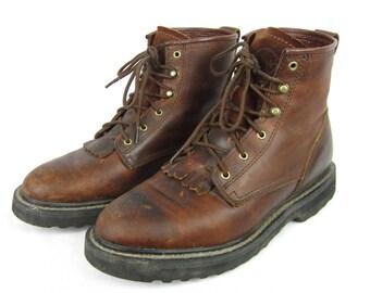 Vintage Mens Packer Boots, Double H Brand, Sz 9.5 M