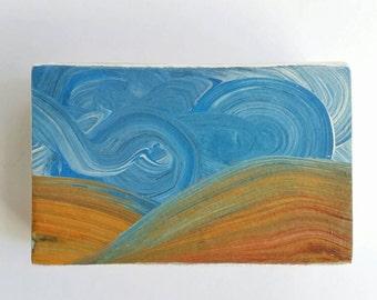 palouse six - original wood block sky painting