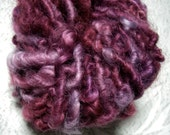 RESERVED for Tanatty82---Handspun Curly Bulky Lincoln Longwool  Wool Art Yarn in Garnet Lavender by KnoxFarmFiber for Knit Crochet Weave