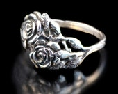 Rose Ring Silver - Flower Ring - Rose Jewelry Flower Jewelry - Silver Rose Sterling Rose - Silver Flower - Fashion Ring Valentines Day Gift
