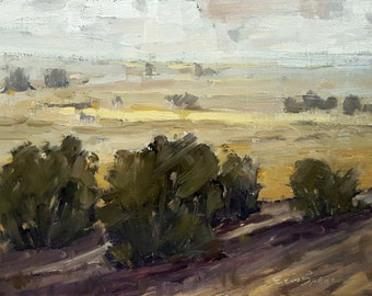 Look At Those Hills | Original Landscape Oil Painting | 8.5 x 11