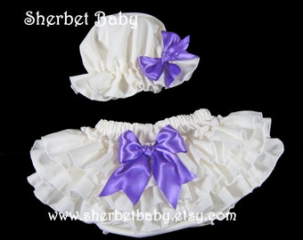 Handmade Bonnet & Ruffle Diaper Cover BloomerSet Bo Peep Prairie Bonnet Sassy Pants Set Original Design Any Color Print or Fabric