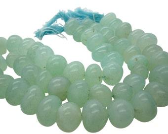 Green Chalcedony Beads, Smooth Nuggets, Chalcedony Beads, SKU 5112A