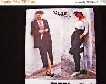 on SALE Vogue Patterns Donna Karan DKNY Misses Size 8 10 12 UNCUT Vogue Designer Pattern High Waisted Pants, Jacket, Wrap Skirt Pattern