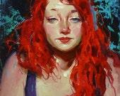 Original Oil Painting - Red Hot