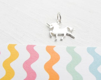 Unicorn Charm or Pendant for Sterling Silver Jewelry Making (CNA1432)