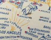 1940s California print map tablecloth