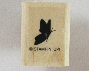 Stampin Up! - Small Solid Butterfly Rubber Stamp #RS219