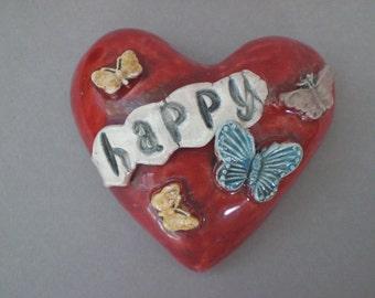 Heart Wall Decor, heart wall hanging, heart and butterflies wall sculpture