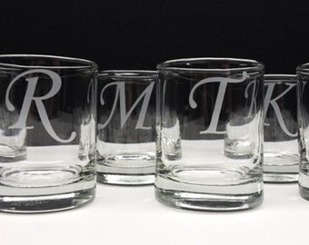 Monogram Engraved Votive Holder Engraved Glass Candle Holder Wedding Decor Holiday Table Setting