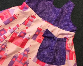 Reversible  Castle dress sizes 5-8 years.