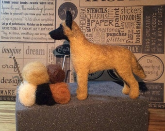 Dog Needle Felting Kit - Belgian Malinois